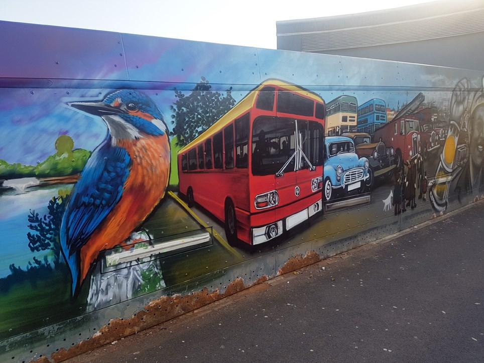 St Helens Footbridge Mural 4