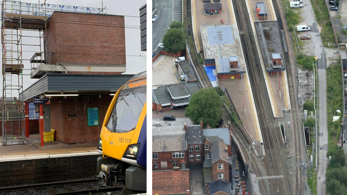Water damaged lifts to be repaired at Wigan North Western station: Wigan North Western lifts composite