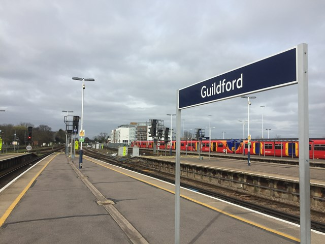 REMINDER! Guildford's railway set for new footbridge, plus upgraded track and signalling this Easter: Guildford Station