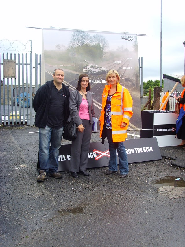 Don't Run the Risk: Llanelli level crossing awareness day.