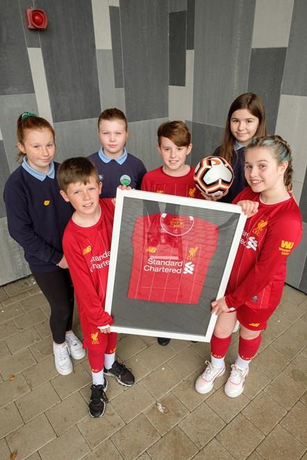 Jack, Chloe, Keavie, Declan, Errin and Lea from Muirkirk Primary