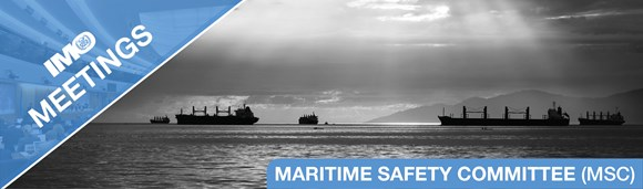 IMO's Maritime Safety Committee to begin looking at autonomous vessels: IMO meetings banner MSC EN