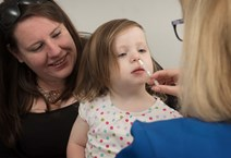 Jura Warburton receives her flu vaccination