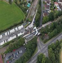 Albrighton station satellite view