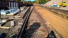 Track replacement work takes place at Fareham, Hampshire, October 2016 [3]