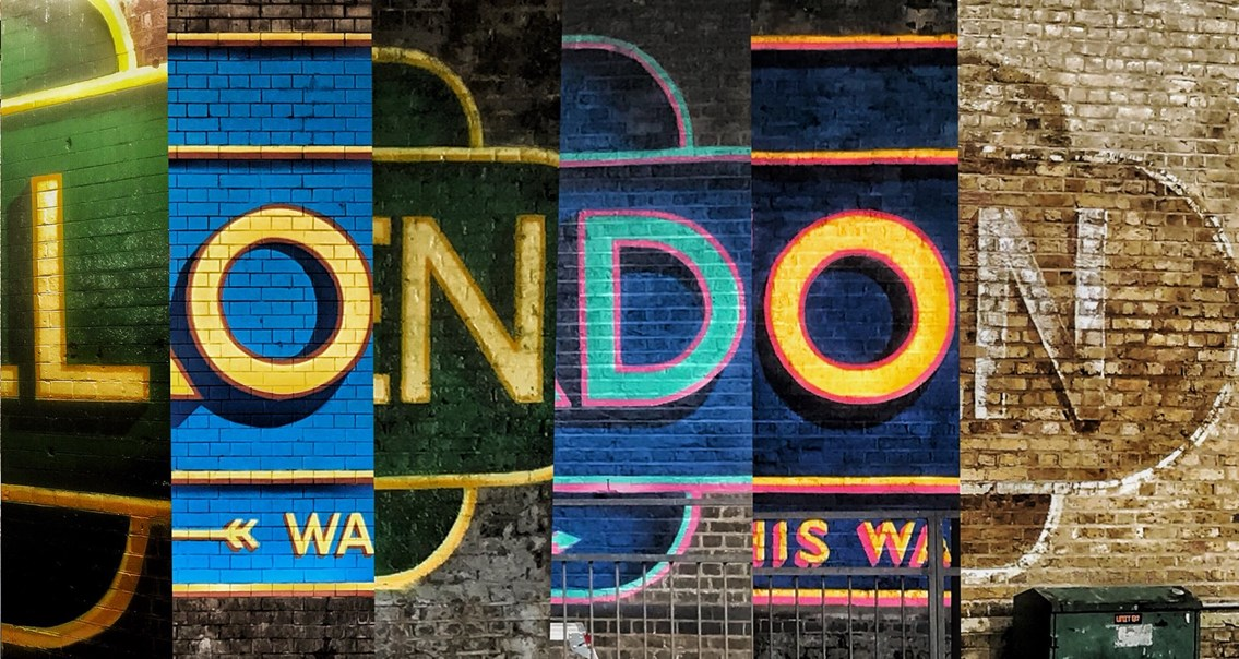 Meet the street artist transforming London's railway bridges into works of art: London montage 2