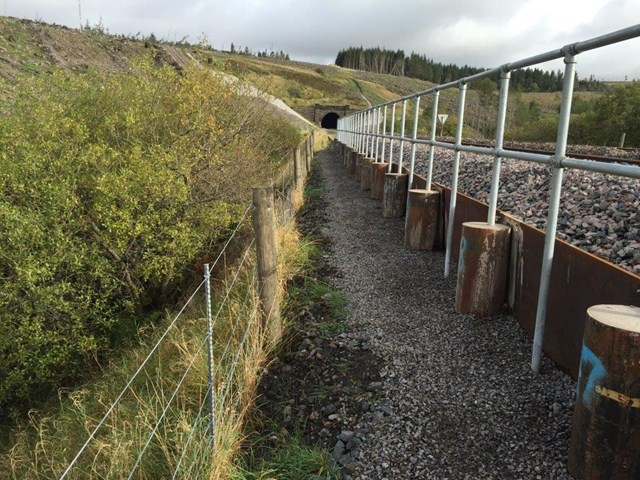 Drainage system running alongside the railway at Dent, Cumbria