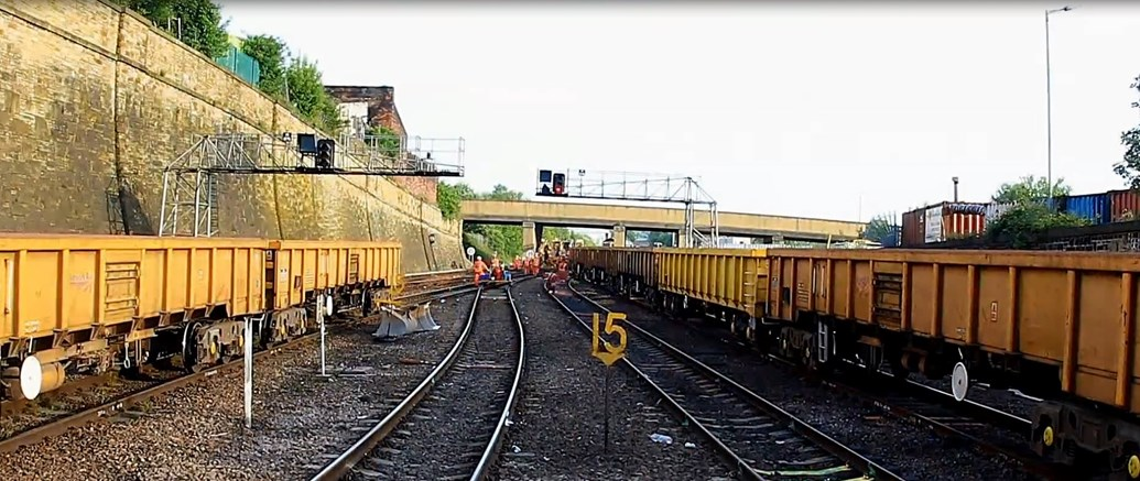 time lapse footage shows latest stage of great north rail project in