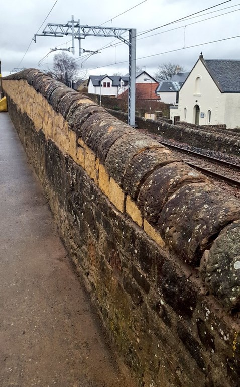 Linlithgow wall work is in preparation for line electrification
