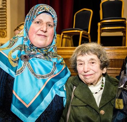 Mevlida Lazibi and Hana Kleiner: From left: Bosnian genocide survivor Mevlida Lazibi and Holocaust survivor Hana Kleiner