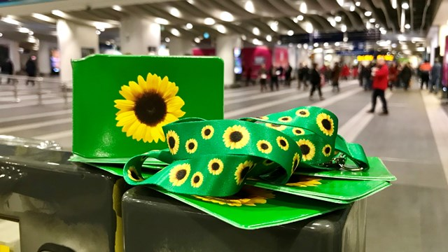 Sunflower lanyards and ticket holders 1