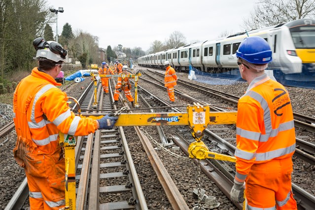 Reliability boost for Brighton Main Line passengers as Network Rail completes railway upgrade between Redhill and Gatwick: NR-EarlswoodTrackWorks 071