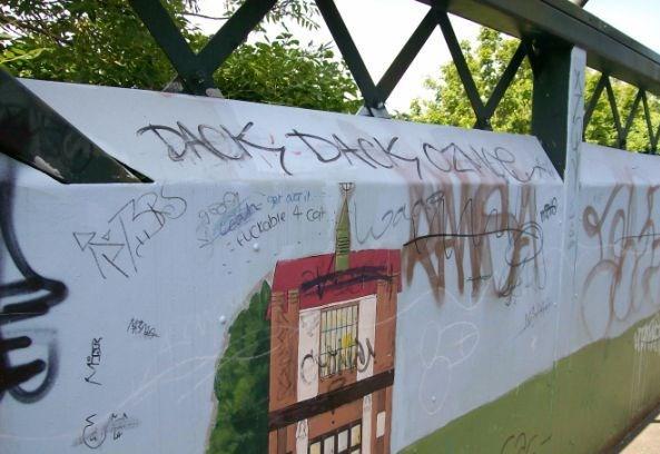 Faversham Long Bridge Graffiti 1
