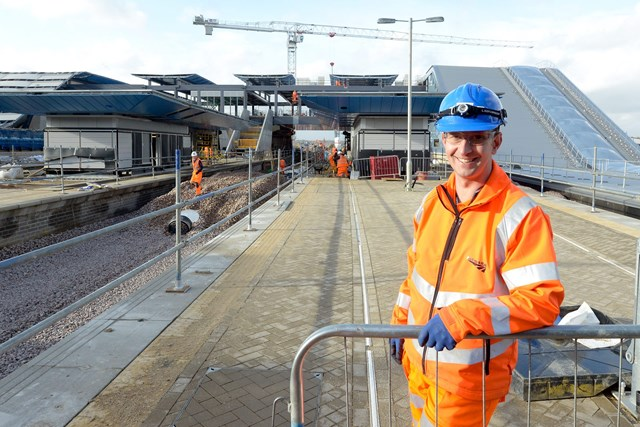 Major changes on the way at Reading station: Andy Ring, Network Rail construction manager, at the new station development