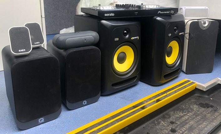 DJ decks and speakers: A range of sound equipment such as DJ decks and speakers were seized due to continued loud levels of noise.