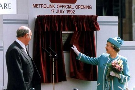 HRH The Queen opens Metrolink: HRH The Queen opens Metrolink at St Peter's Square on 17 July 1992