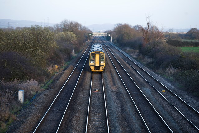 Passengers advised to check before they travel as weekend work to improve railway in South Wales continues: View East from Hawse Lane Bridge, Newport