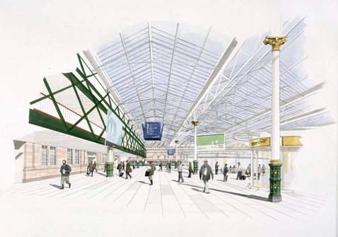 Waverley main concourse - artist's impression