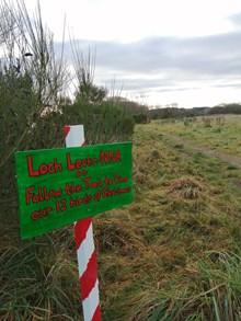 Loch Leven Christmas trail (c) Louise Clark/NatureScot