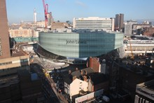 The new John Lewis store at Birmingham New Street: The new John Lewis store, which is scheduled to open in September 2015 as part of the Grand Central shopping centre above Birmingham New Street station