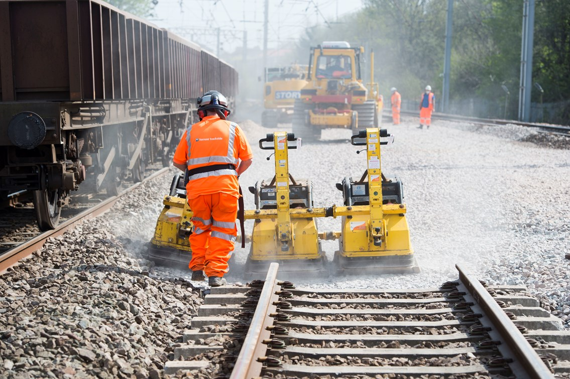 Vital Christmas upgrades for Edinburgh's Haymarket junction: Track renewals image