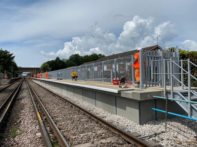Platform extensions mean more seats for railway passengers in East and West Sussex: Platform extension work-4
