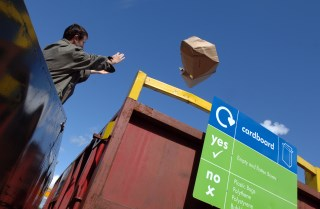 Longer opening hours for recycling sites: recyclingcardboard.jpg