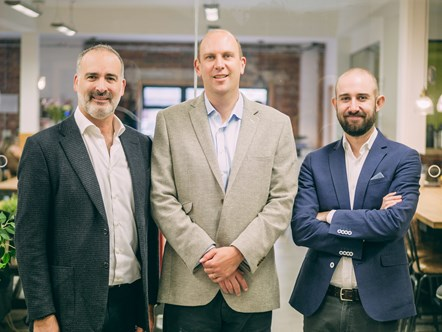 •Aforza Co-Founders Photo: Dominic Dinardo (Chief Executive Officer), Ed Butterworth (Chief Commercial Officer), Nick Eales (Chief Product Officer)