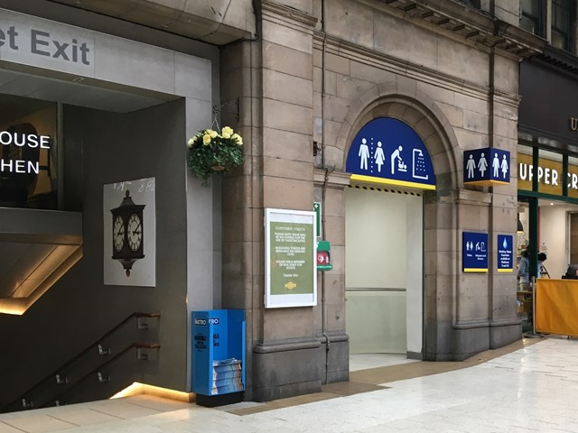 Refurbishment works for Glasgow Central toilets: Glasgow Central toilets 1