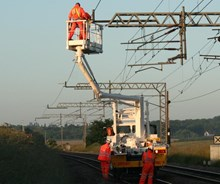 Overhead lines will be installed on the South Wales Mainline
