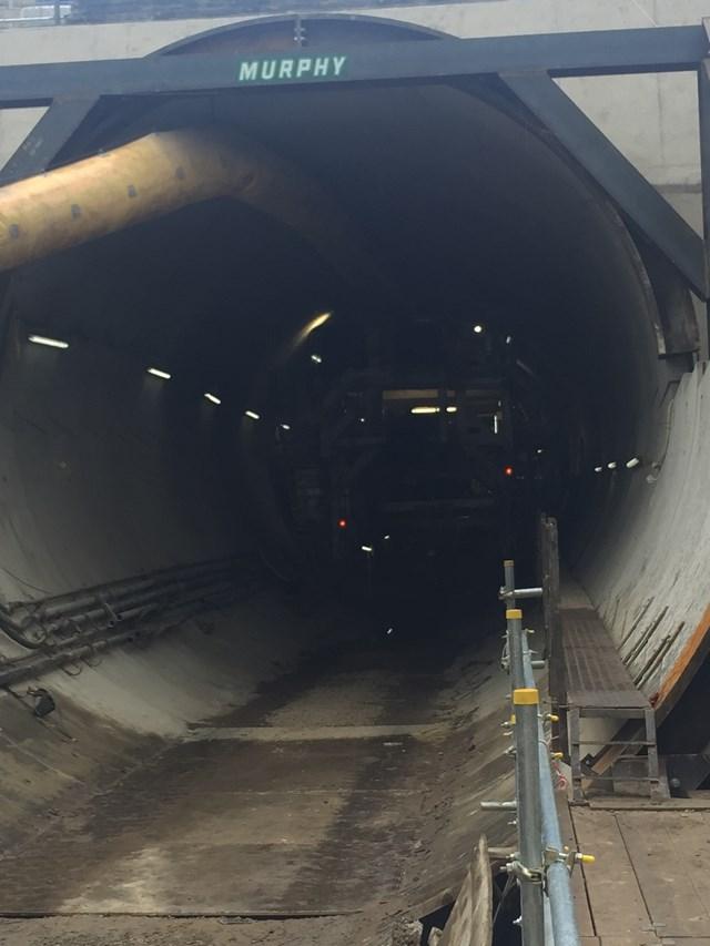 Farnworth Tunnel - inside the newly-bored tunnel