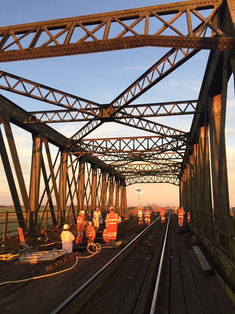Manea bridge works