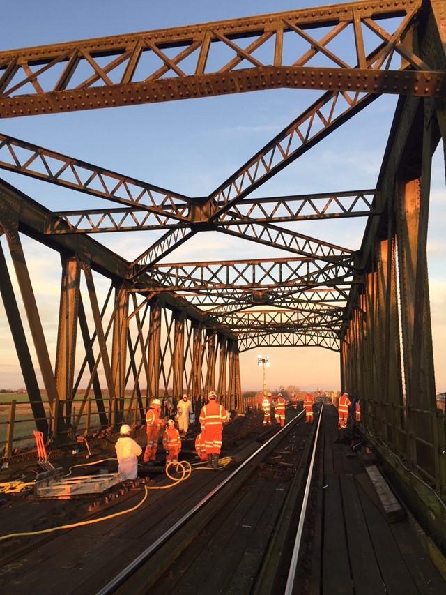 Manea bridge works