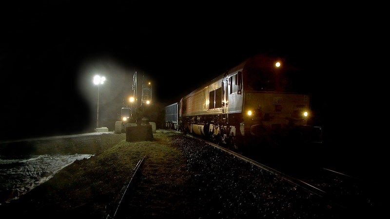 HS2 removes over 12,500 lorries from UK roads as first freight train rolls into Bucks site: Calvert freight train