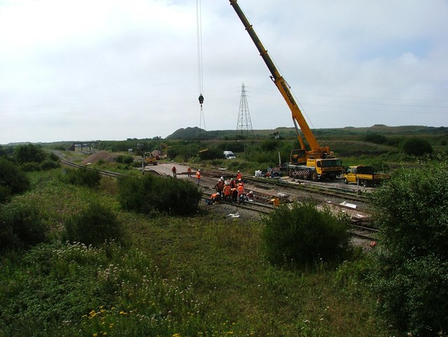 Port Talbot East Resignalling project: Margam Abbey works, East Junction remodelling
