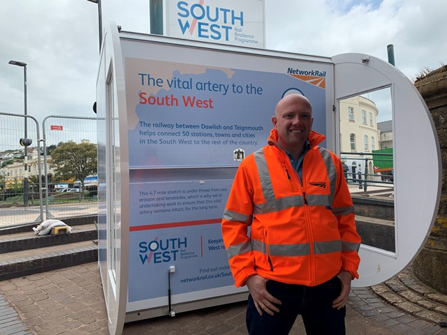 Information hub opens in Dawlish to keep community updated as vital sea wall upgrade gets underway: IMG 8242