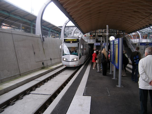 Example of a tram train 2: Kassel underpass