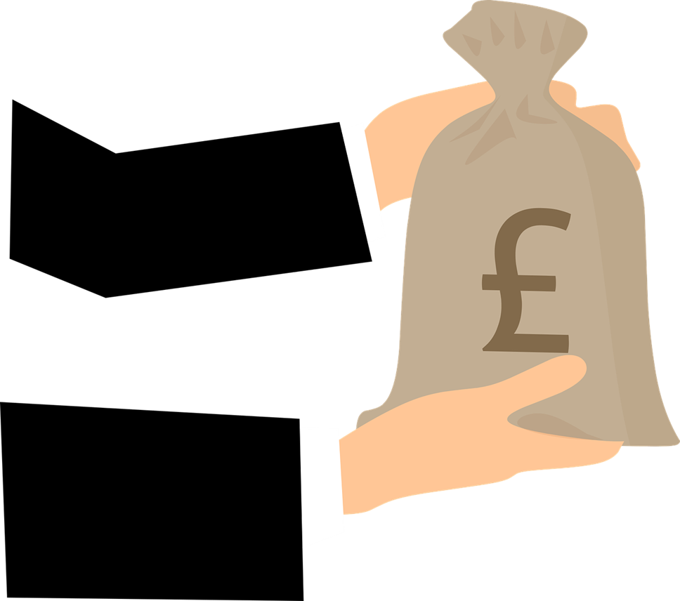 Groups urged to apply for funding for those needing food and financial aid: Money bag new icon