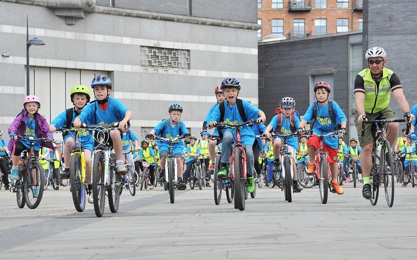 Leeds gets into gear with second bike library: bikeweek2015riders.jpg