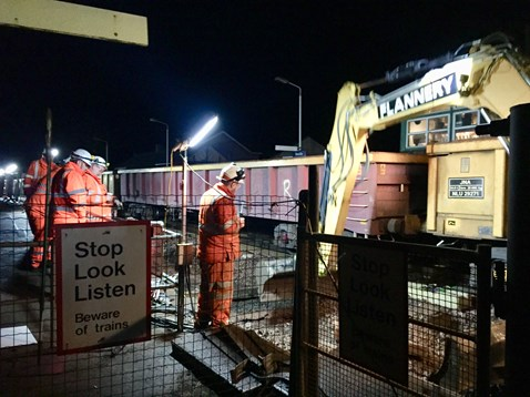 Overnight work taking place on £3m track renewal project between Bootle & Silecroft