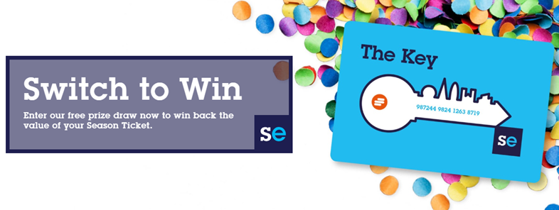 Southeastern passengers in with a chance of winning the cost of their annual season ticket: Switch to Win