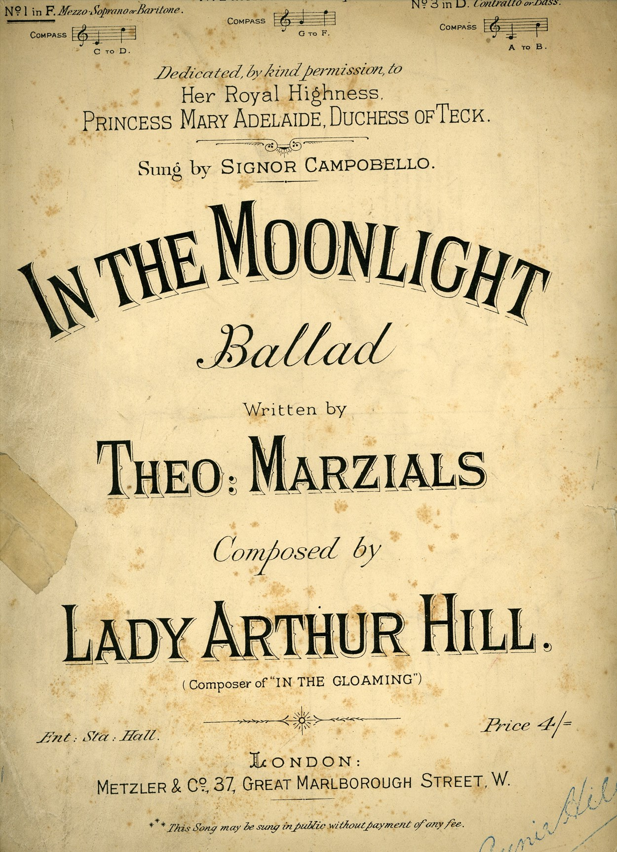 Lady Arthur Hill - In the Moonlight 1882