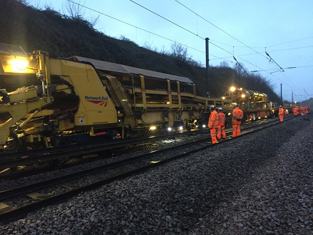 Grantham track renewal- Xmas 2019