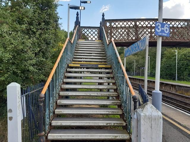 Bookham footbridge steps-2