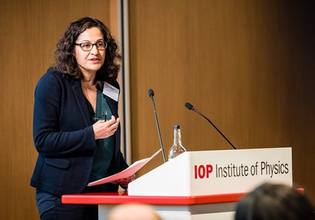 World Of Work Launch 1 - Cropped: Cllr Asima Shaikh launches the World Of Work programme at the Institute of Physics