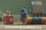Home Energy Scotland: Introducing Doug, the colourful draught excluder, with helpful advice for homeowners in Scotland.