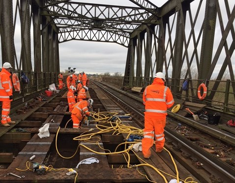 Manea bridge Cambridgeshire structural renewal