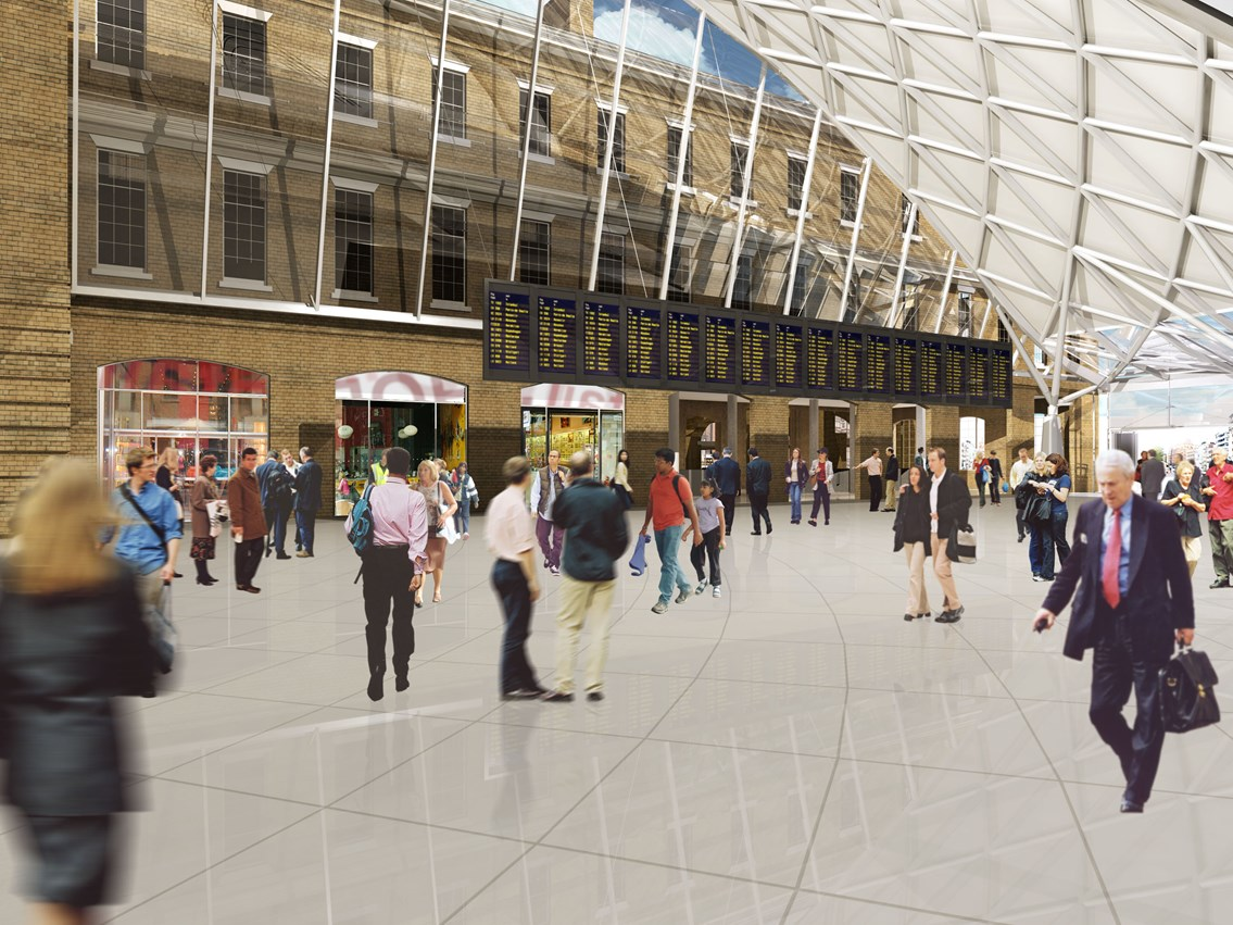 PRESS BRIEFING - KING'S CROSS: New King's Cross concourse