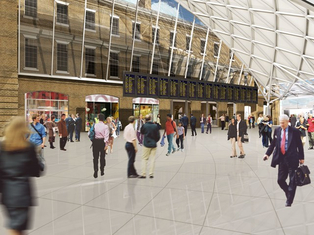 New King's Cross concourse