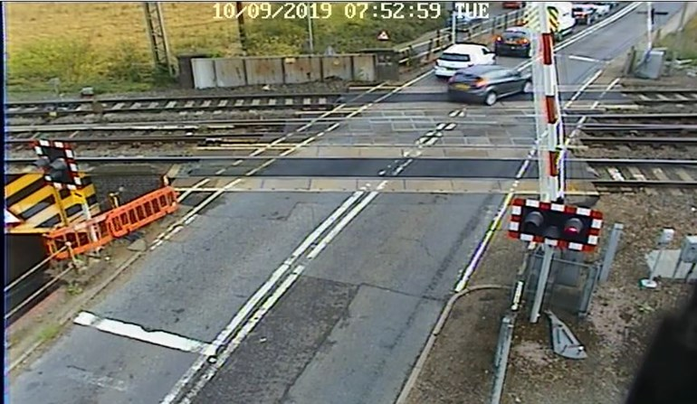 Drivers warned to not jump the barriers at Essex level crossings